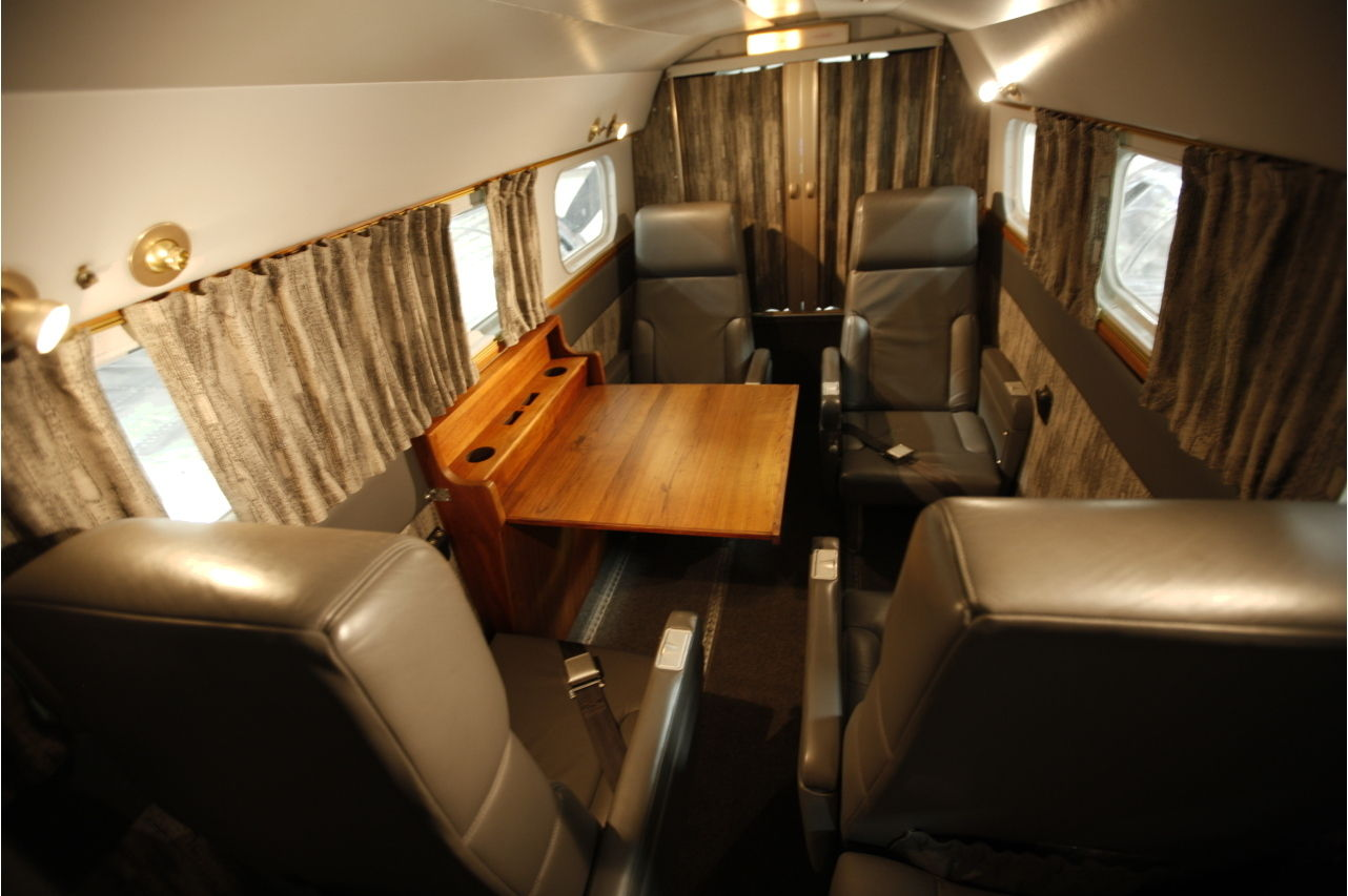 The interior of this C45H is comfortably furnished for four passengers, plus crew. (Picture courtesy Trade-A-Plane).