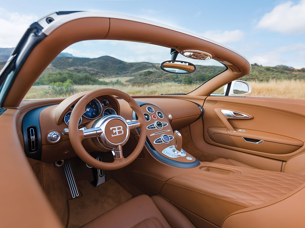 The control center of the Bugatti Veyron is the place where the art and engineering blend into an unforgettable life experience. (Picture courtesy RM Sotheby's).