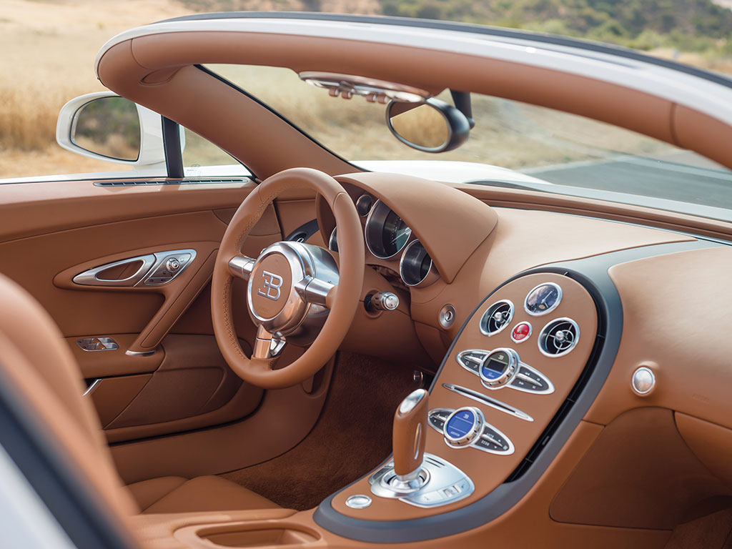 It seems hard to believe that the windscreen can protect driver and passenger from the 220mph wind flowing over the car. (Picture courtesy RM Sotheby's).