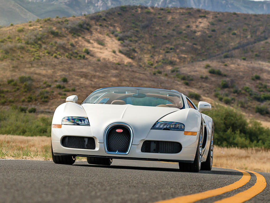 The Bugatti Veyron 16.4 Gran Sport is a head turning car no mater what angle you look at it from. (Picture courtesy RM Sotheby's).