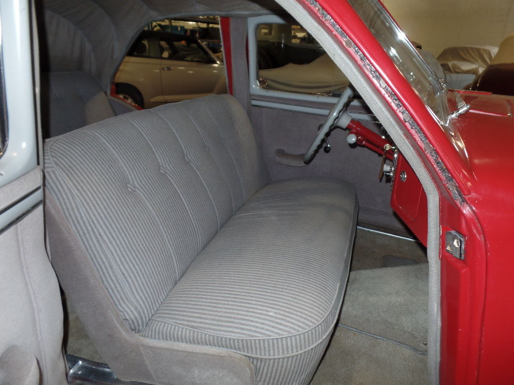 The interior of this car was restored in the 1980's but is in very nice condition despite its age.