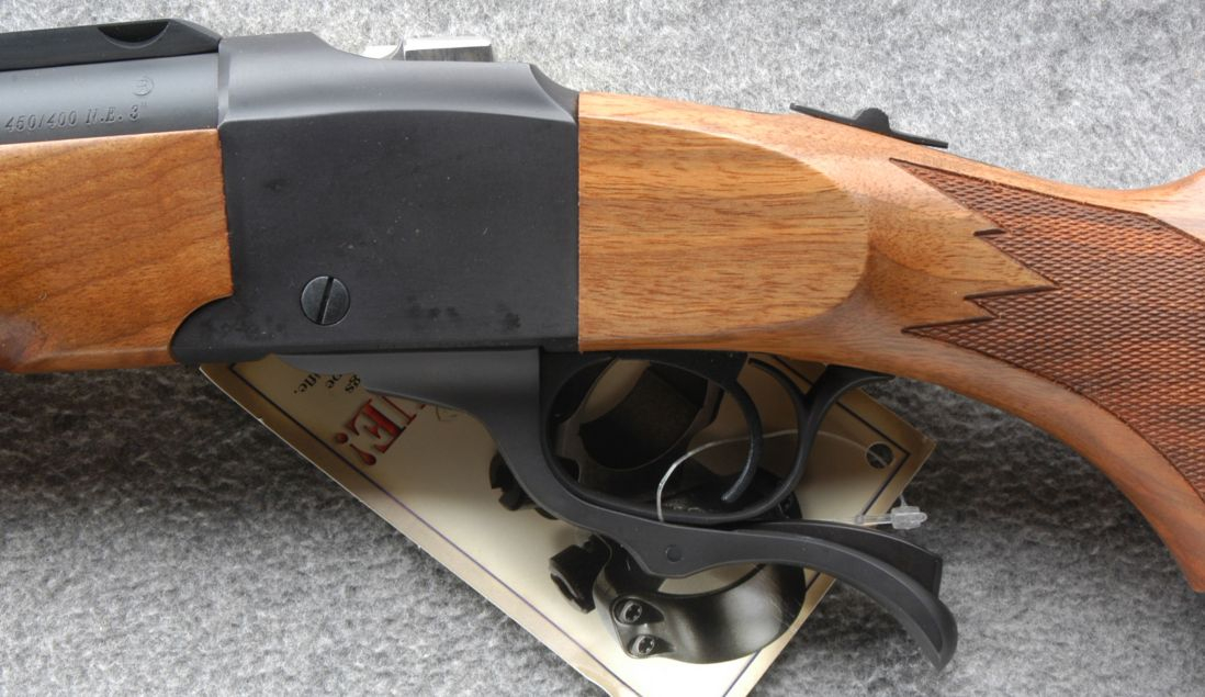 """No-one who just wants a rifle as a """"tool"""" will choose a classic single shot chambered for the 450/400 Nitro Express 3"""".  (Picture courtesy Cabela's)."""