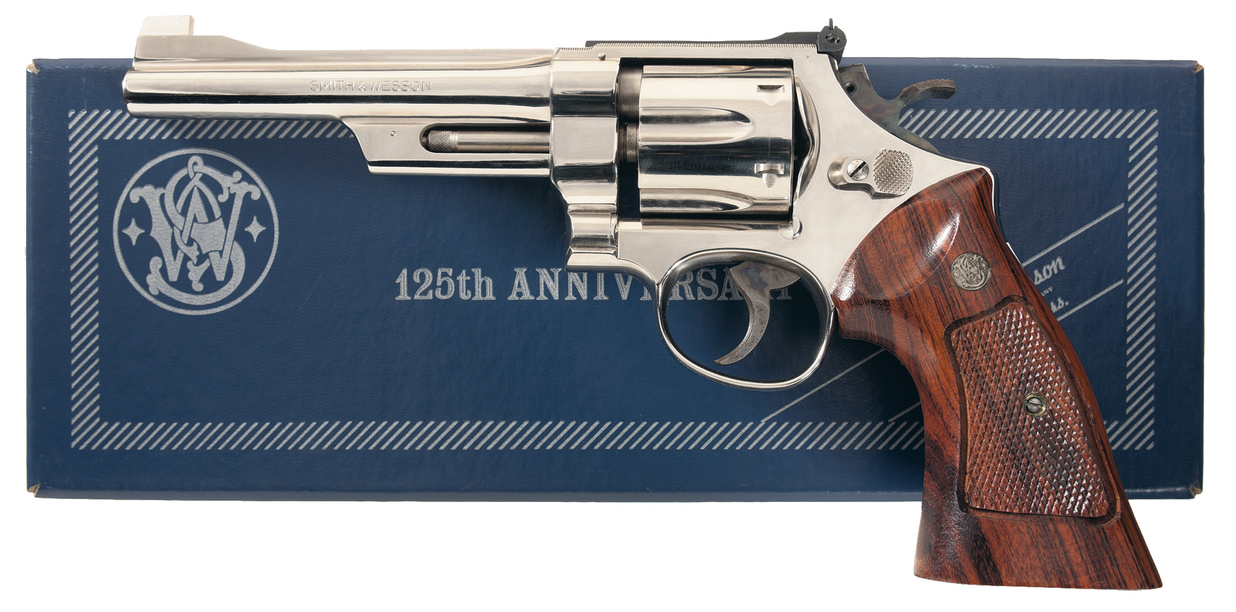Author's first hands on experience with a Smith & Wesson Model 27 was with a nickeled version such as this one. (Picture courtesy Rock Island Auction).