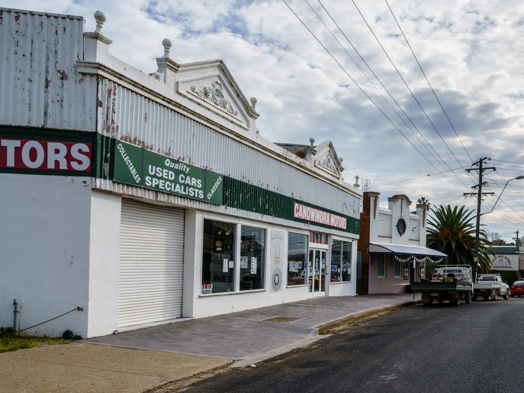 Behind this unassuming shop front in rural New South Wales is one of the most extensive collections of Holden cars in the world. (Picture courtesy news.com.au).