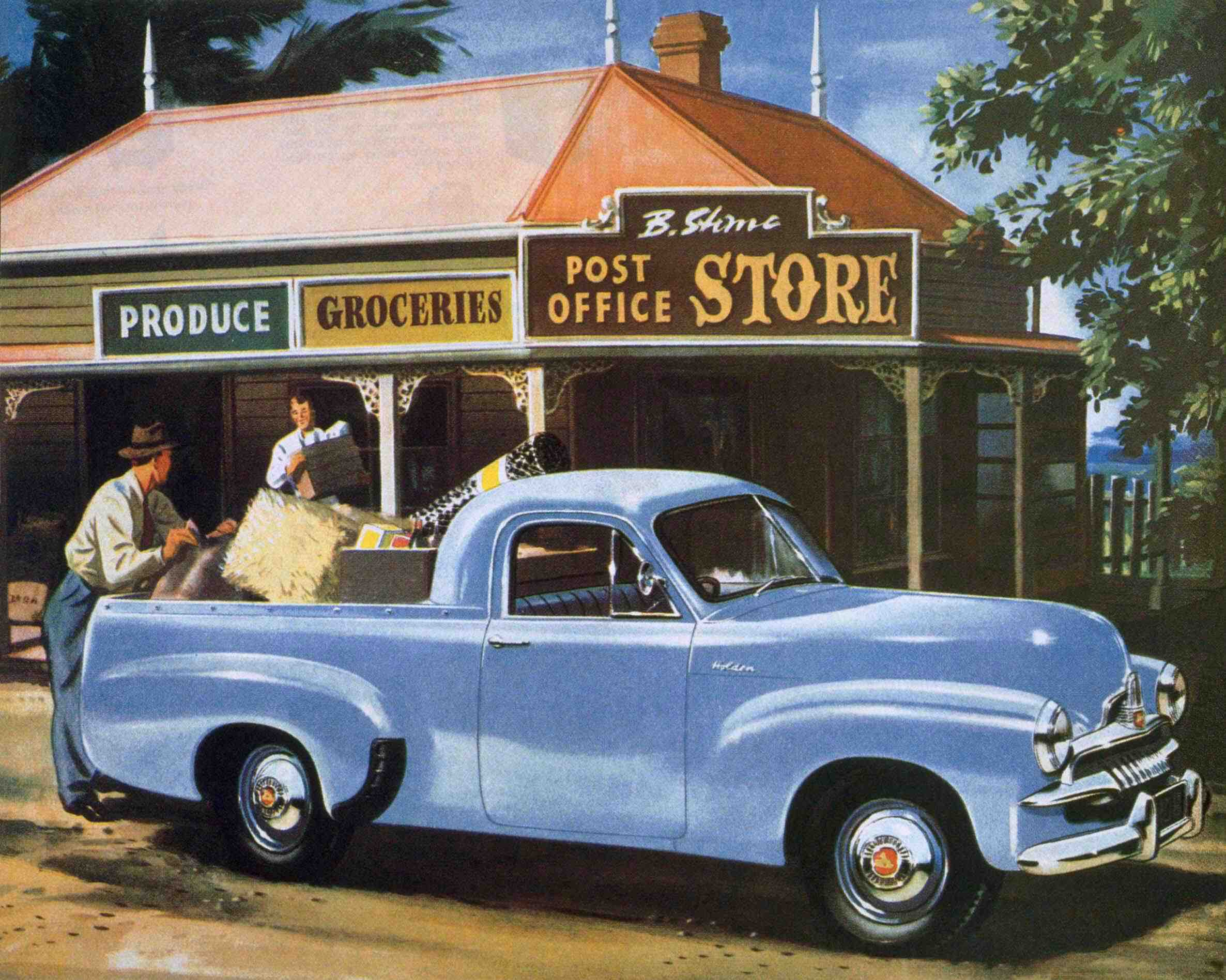 "The utility version of the Holden appeared in 1951. This was the birth of the iconic Australian ""ute"". (Picture courtesy oldholden.com)."