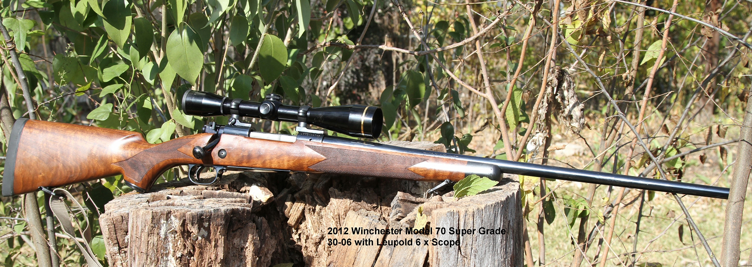2012 Winchester Model 70 Super Grade in 30/06 with Leupold rifle-scope. It doesn't get more American than this. (Picture courtesy Wikipedia).