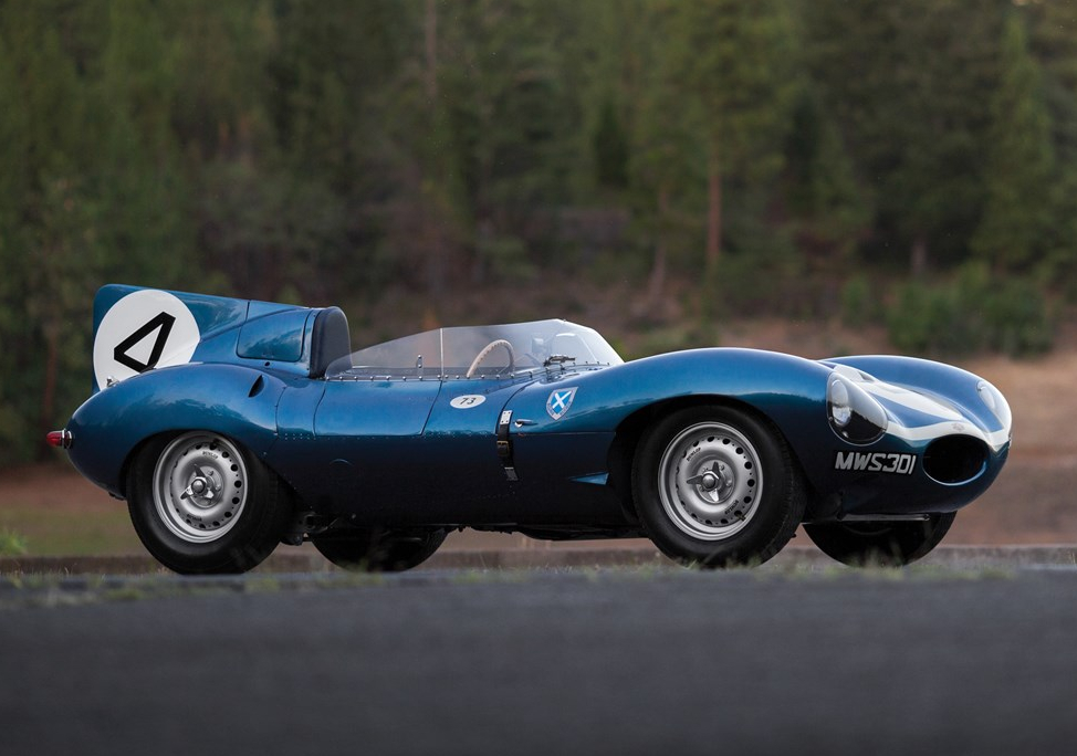 The 1956 Le Mans winning Jaguar D Type remains in original condition to this present day. (Picture courtesy RM Sotheby's).