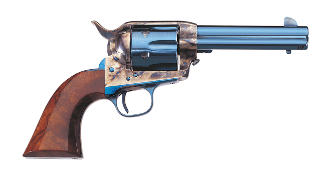 Uberti's replica of the Old Model Colt Single Action Army is the Cattleman Charcoal Blue. (Picture courtesy Uberti).