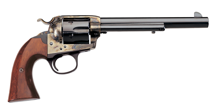 The Bisley is modeled after the Colt Bisley that proved popular in Britain for target shooting. (Picture courtesy Uberti).
