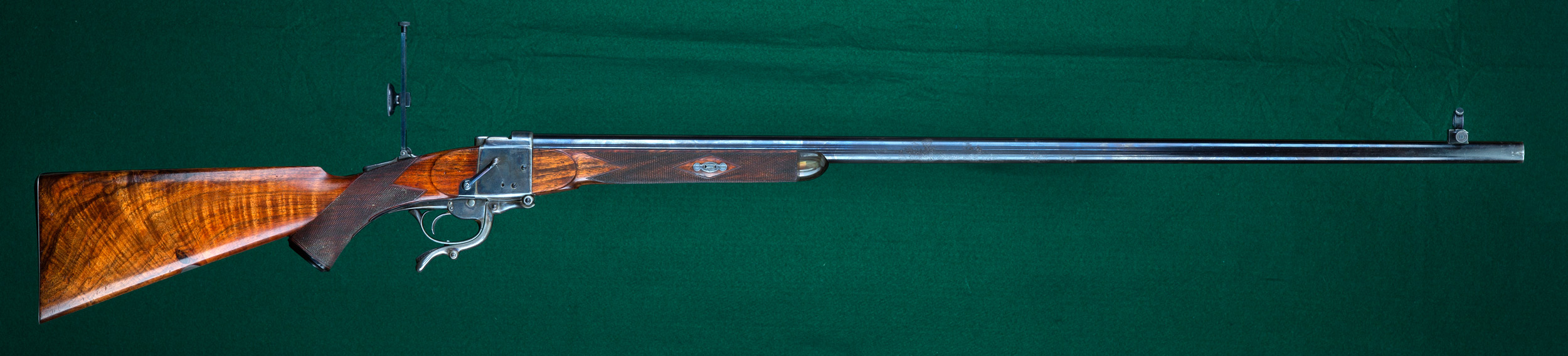 Original Gibbs-Farquharson rifle with heavy Metford barrel chambered for the 461 Gibbs No. 2. (Picture courtesy hallowellco.com).