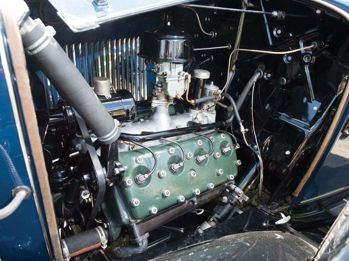 The final product, the L head V8 Ford engine had numerous design faults that would need to be rectified over its years of production. (Picture courtesy RM Sotheby's).