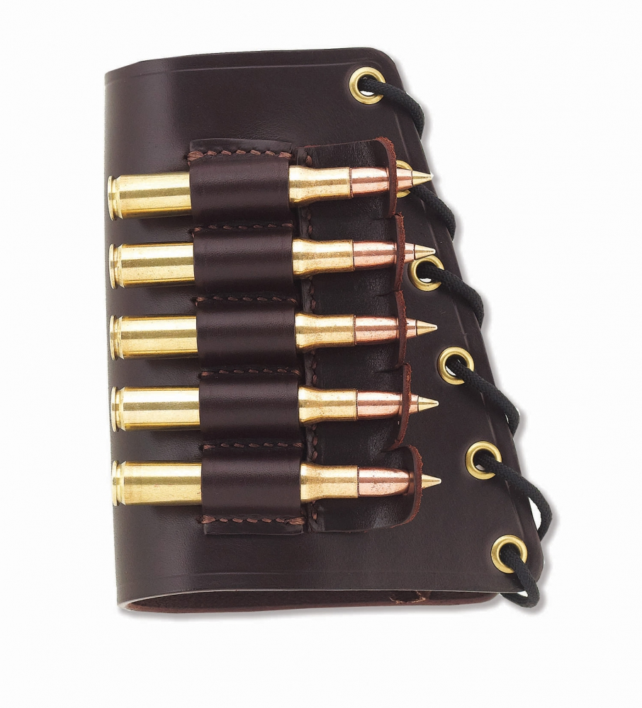 The Galco Butt Cuff is a superbly convenient way to carry additional rounds on your rifle or shotgun. (Picture courtesy Galco).