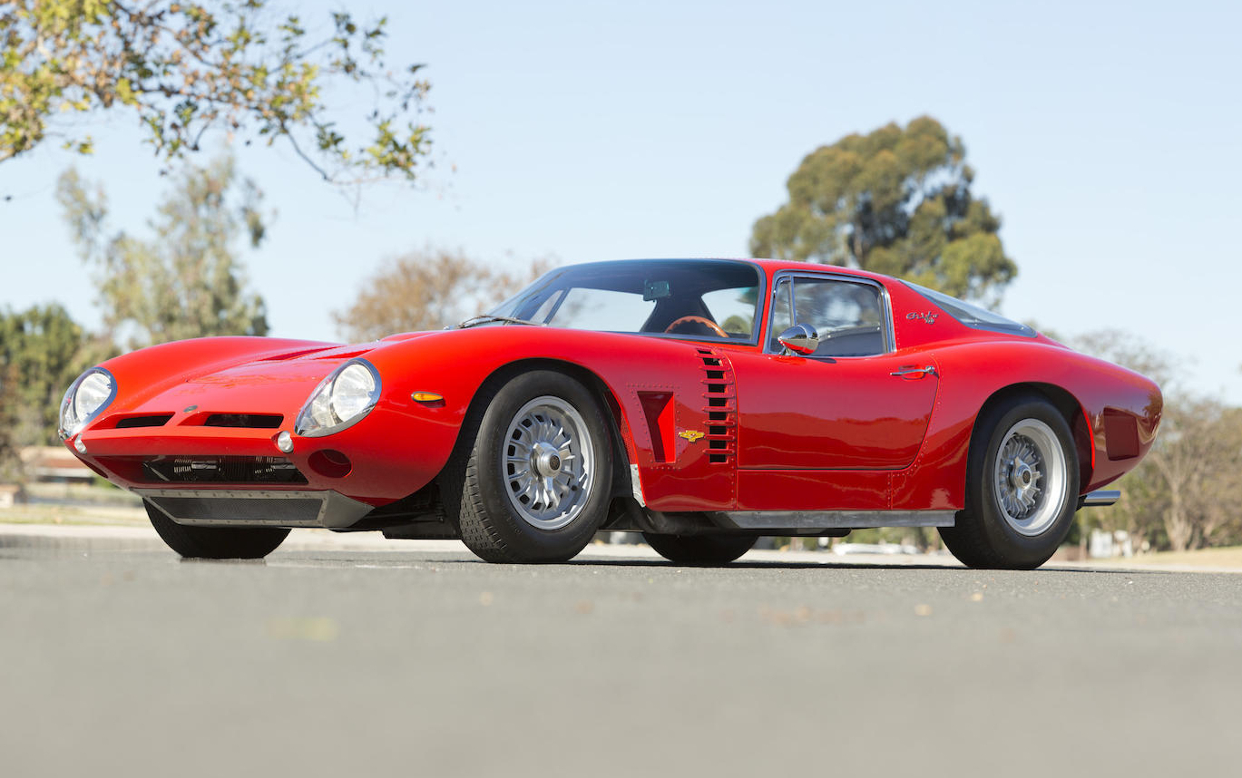 The Giotto Bizzarrini designed Iso Grifo A3 Competizione was a far cry from the Isetta bubble car. (Picture courtesy Bonhams).