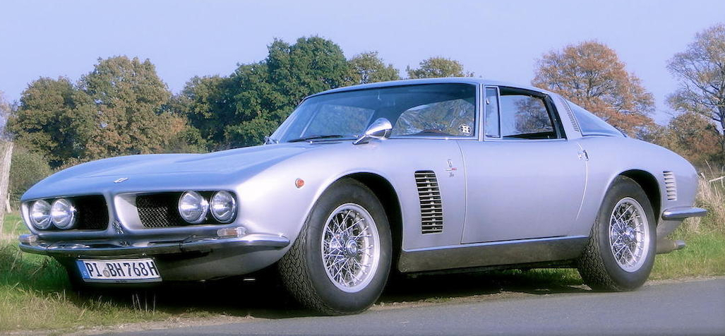 The Iso Grifo GL is essentially the Giotto Bizzarrini design re-modeled into a luxurious GT. (Picture courtesy Bonhams).