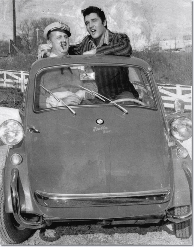 Elvis Presley presented an Iso designed Isetta to his friend Colonel Parker in 1957 as a Christmas gift. (Picture courtesy elvispresleymusic.com.au).