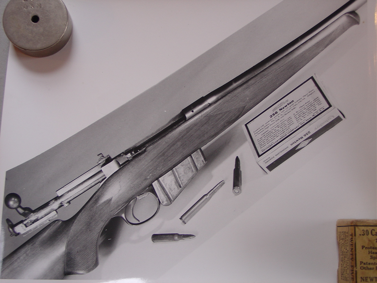 A Newton rifle in .256 Newton built on a Lee action. This would be one fast reloading high capacity gem of a rifle. (Picture courtesy iroquoisarmscollectors.org).