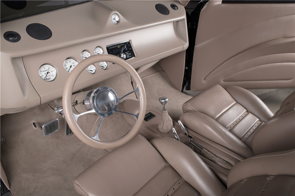 "The interior of ""Black Bart"" is modern, ergonomic, and stylish. (Picture courtesy Barrett-Jackson)."