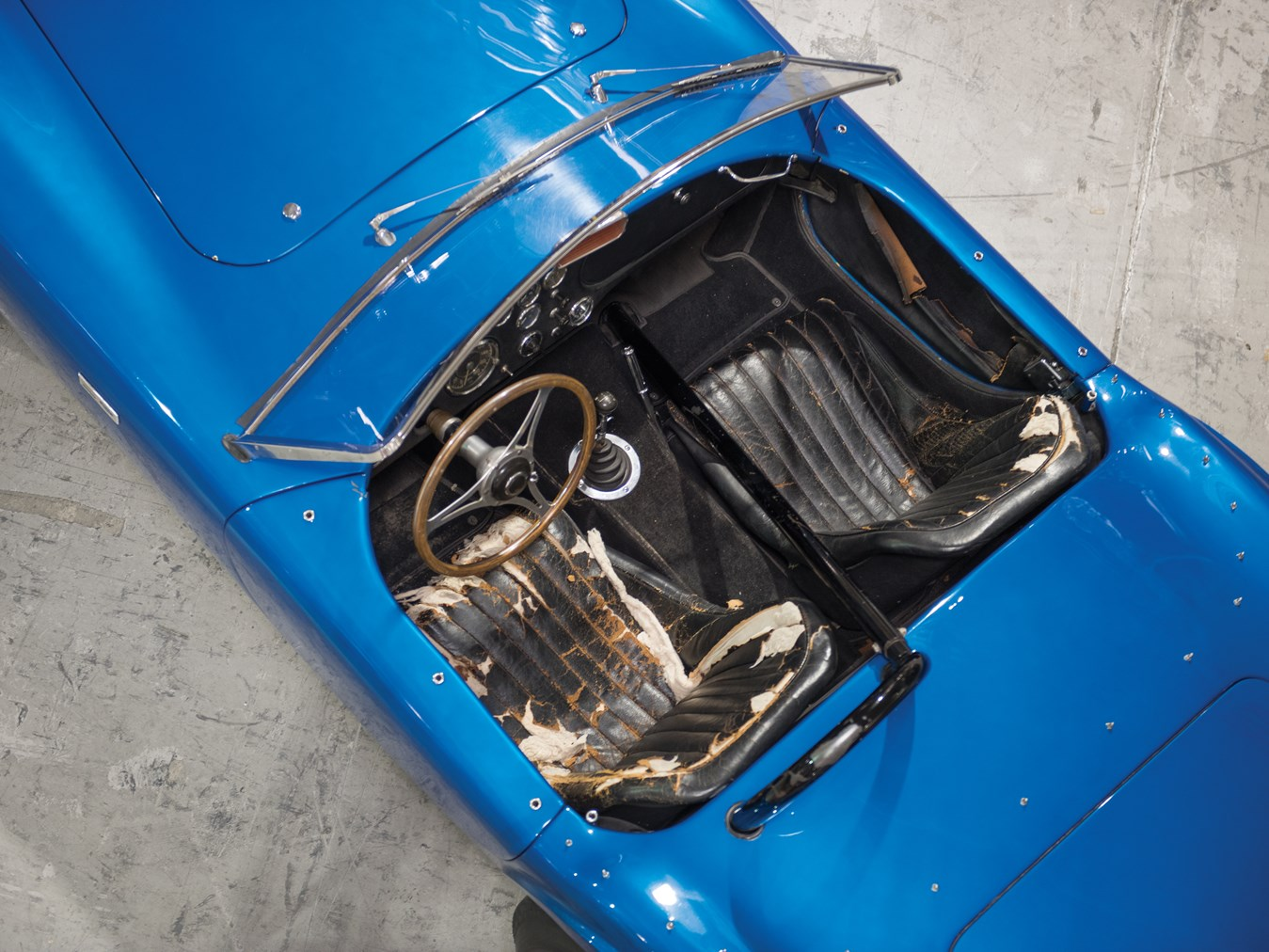 Carroll Shelby forbade anyone from re-upholstering the driver's seat.