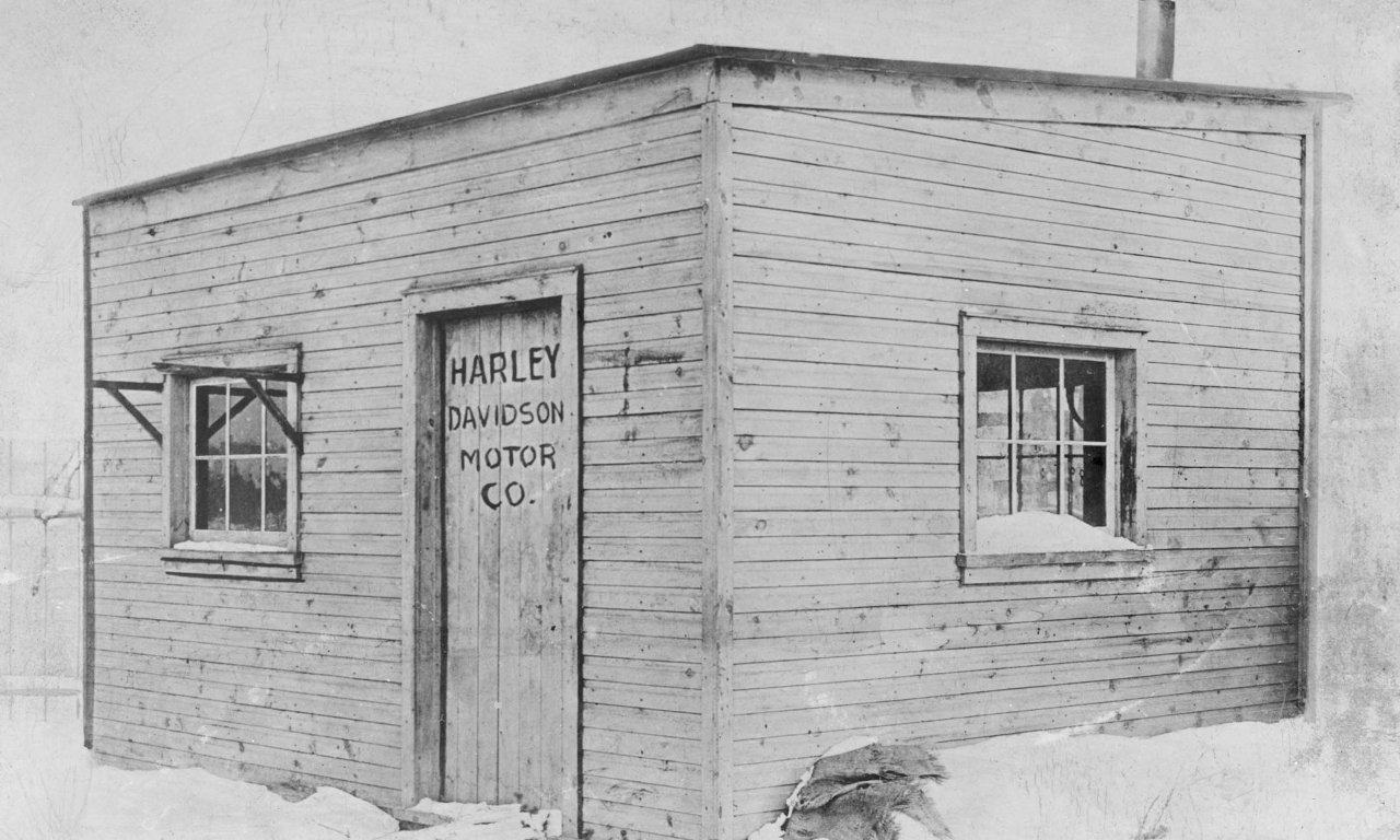 The 15'x10' shed in which the first Harley-Davidson motorcycles were made.