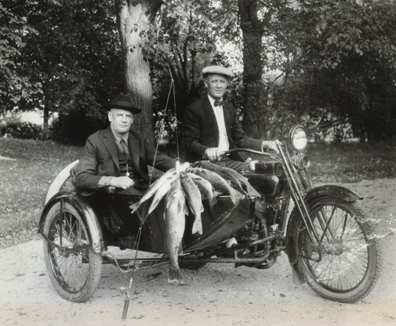 Why was the Harley-Davidson invented? This picture pretty much sums it up. (Picture courtesy motorcyclemuseum.org).