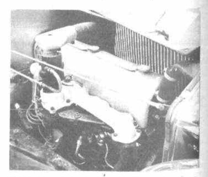 In the 1930's flat head side valve engines were becoming unfashionable. As the Hudson straight eight was a flathead engine George Brough designed an alloy cover for the top of the engine that made it look like an overhead valve engine. (Picture courtesy motorsportmagazine.com).
