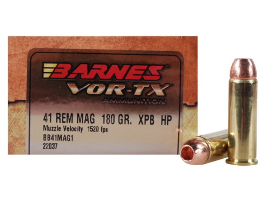 Barnes VOR-TX ammunition is one of the many options for .41 Remington Magnum owners. (Picture courtesy midwayusa.com).