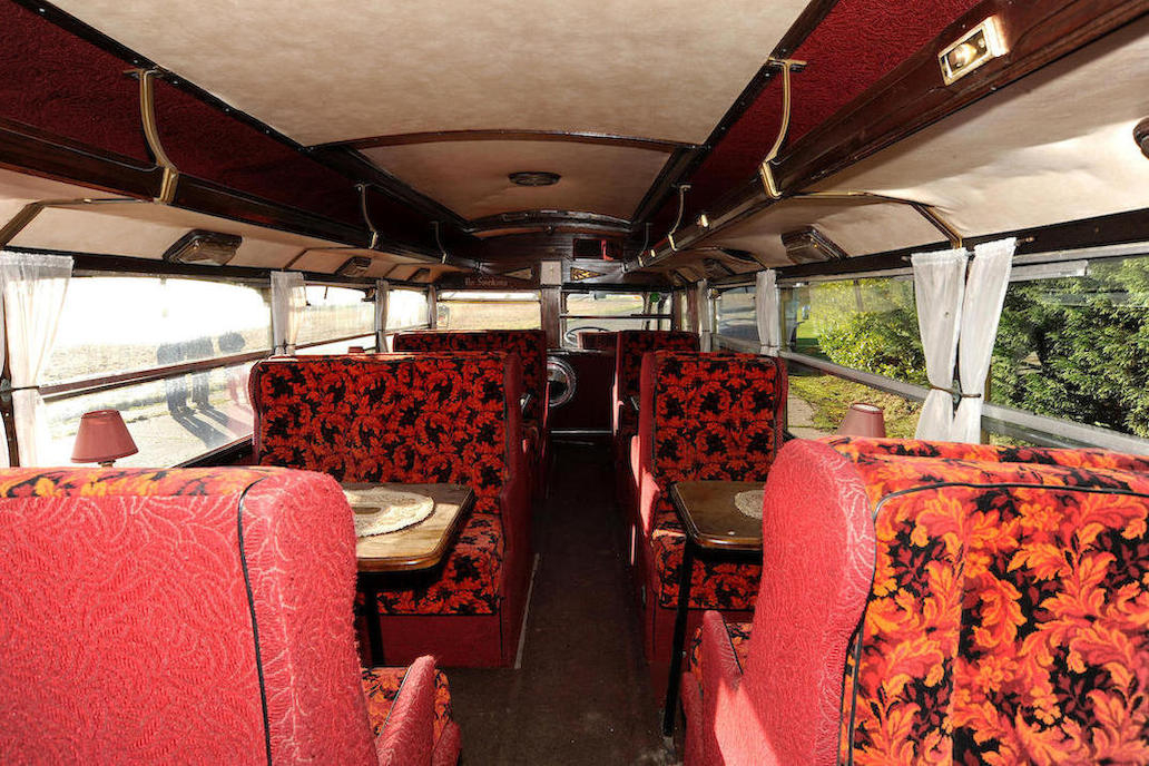 The interior of this AEC Regal has been made a bit more luxurious than typical with Pullman style seating.