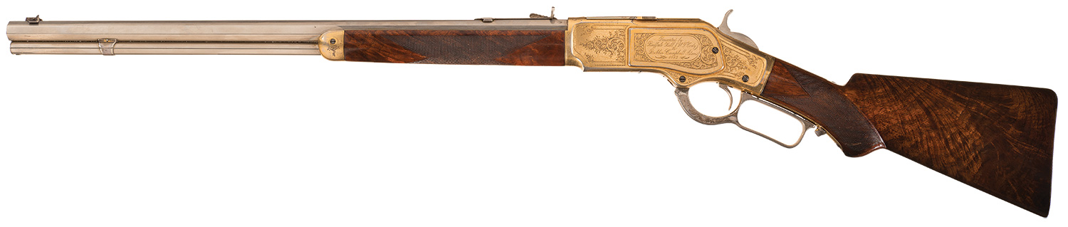 This rifle was presented when Buffalo Bill's Wild West was performing at Madison Square Garden.