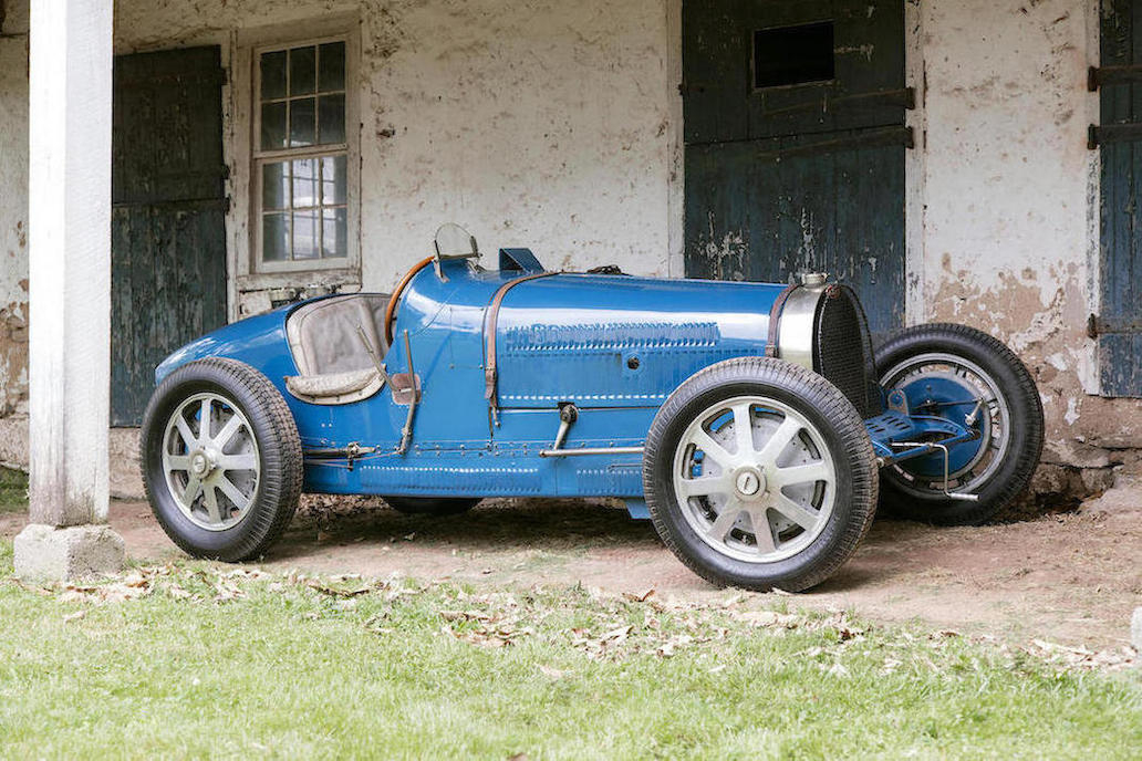 This Bugatti looks like the veteran campaigner it is.