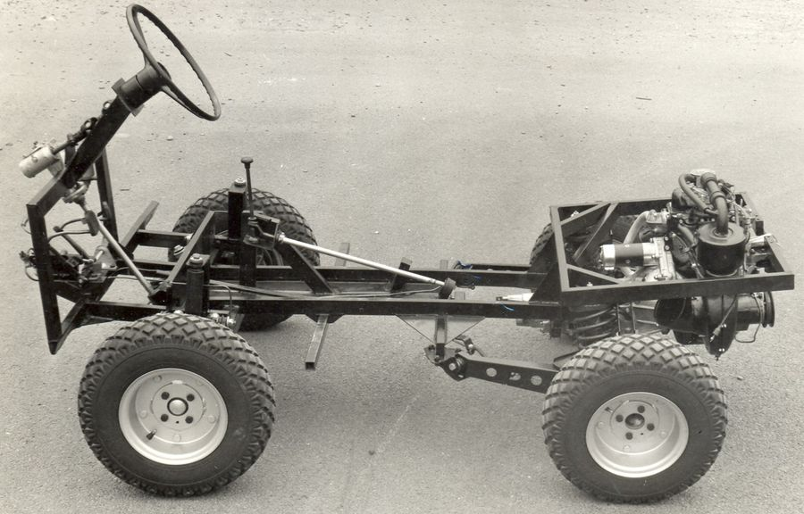 Although the Ferves Ranger used a more conventional ladder frame chassis the concept is very similar to the Haflinger.