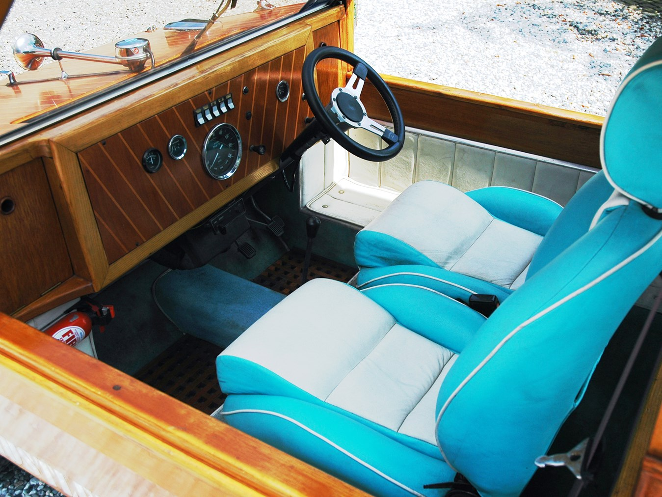 The wood dashboard is not just wood veneer. It's solid wood.
