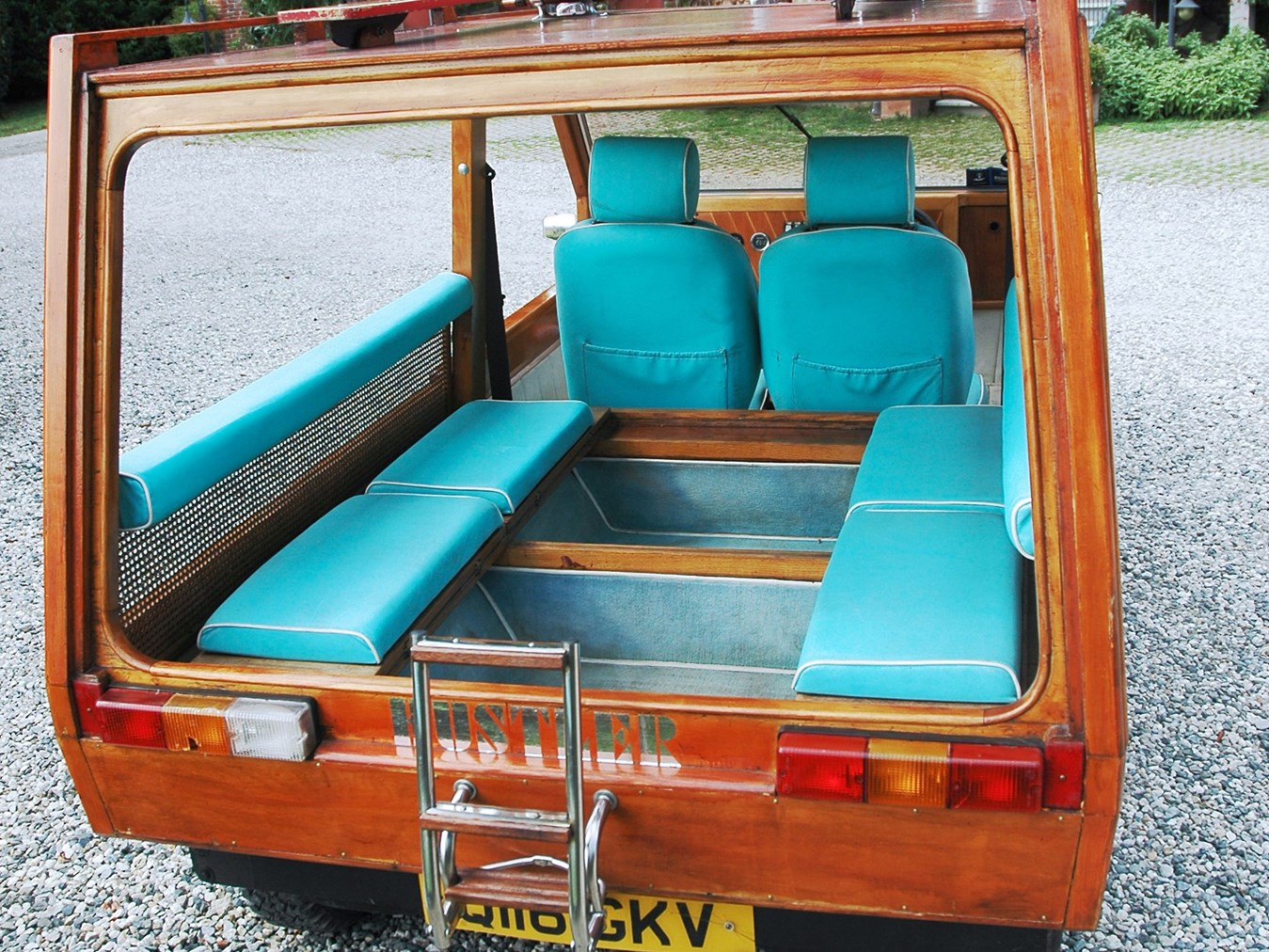 Rear seating is much like that on the vehicles we ride around on in places like Thailand.