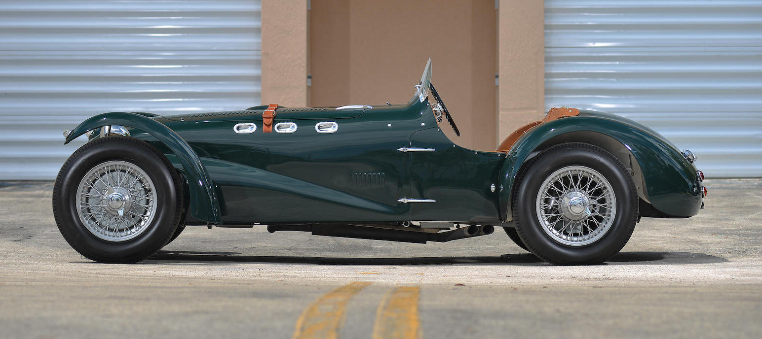 The J2 Allard is almost a cross between an AC Cobra and a Caterham 7, except it predates both of them by a large margin. Note that the rear brakes are in-board mounted.