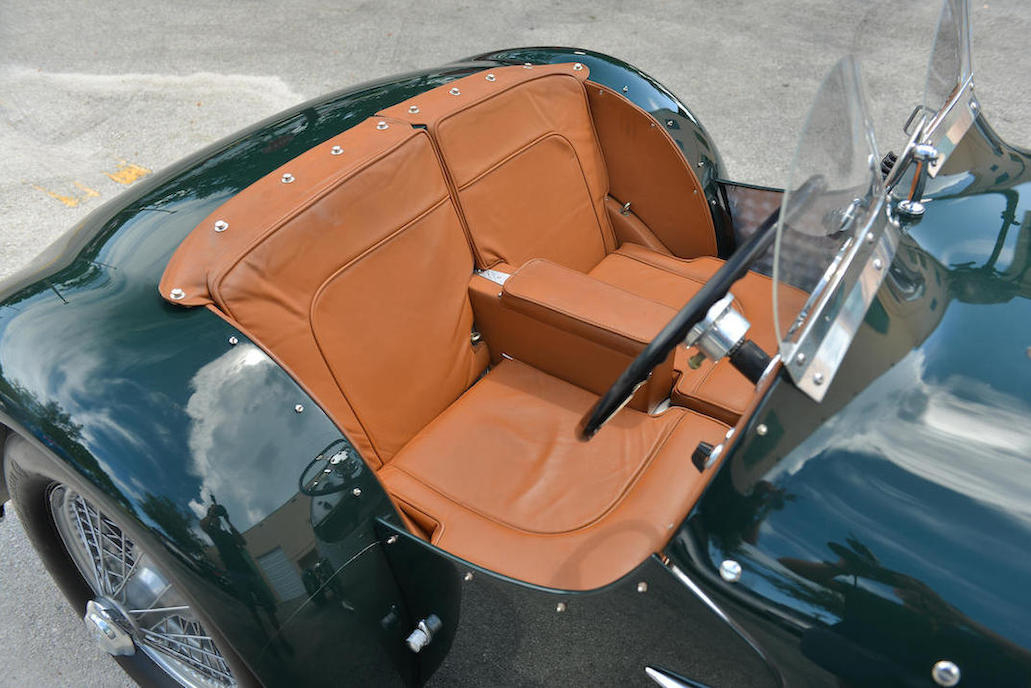 The leather upholstery in the Allard is completely authentic and beautifully executed.
