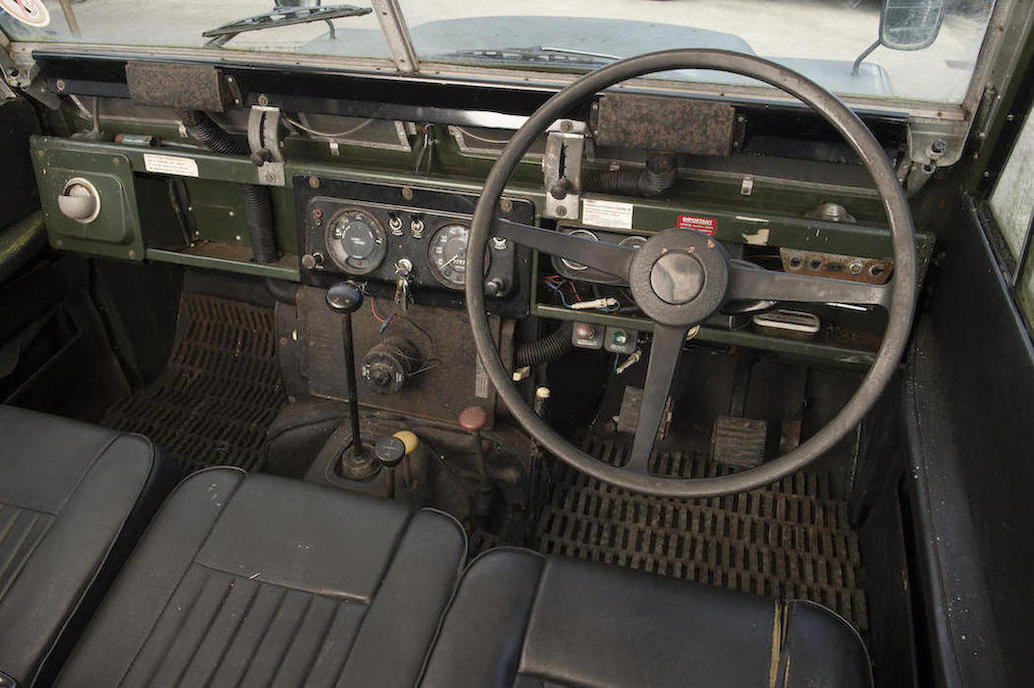 For the author this picture brings back some good memories - even the memory of having to drive home using a pair of Vice Grips on the gear lever stub when it broke off one night. The Series IIA, the best classic Land Rover made.