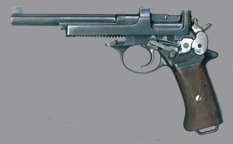 The lock-work of the Mannlicher Model 1901/5 is kept simple and is as a consequence reliable. (Picture courtesy Wikipedia).