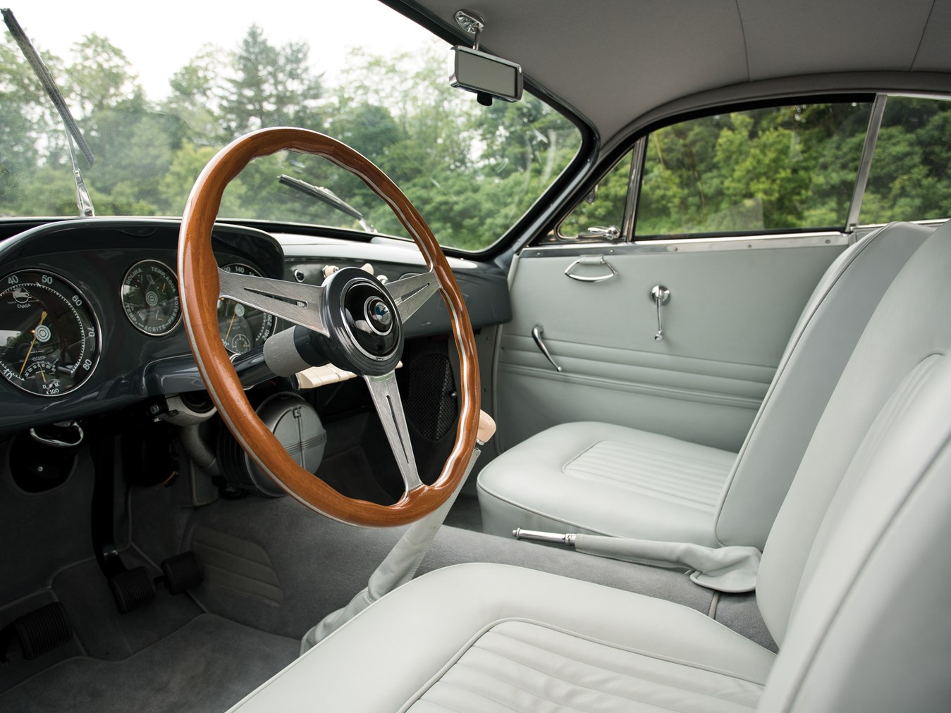 The cockpit of the Pegaso is restrained and purposeful.
