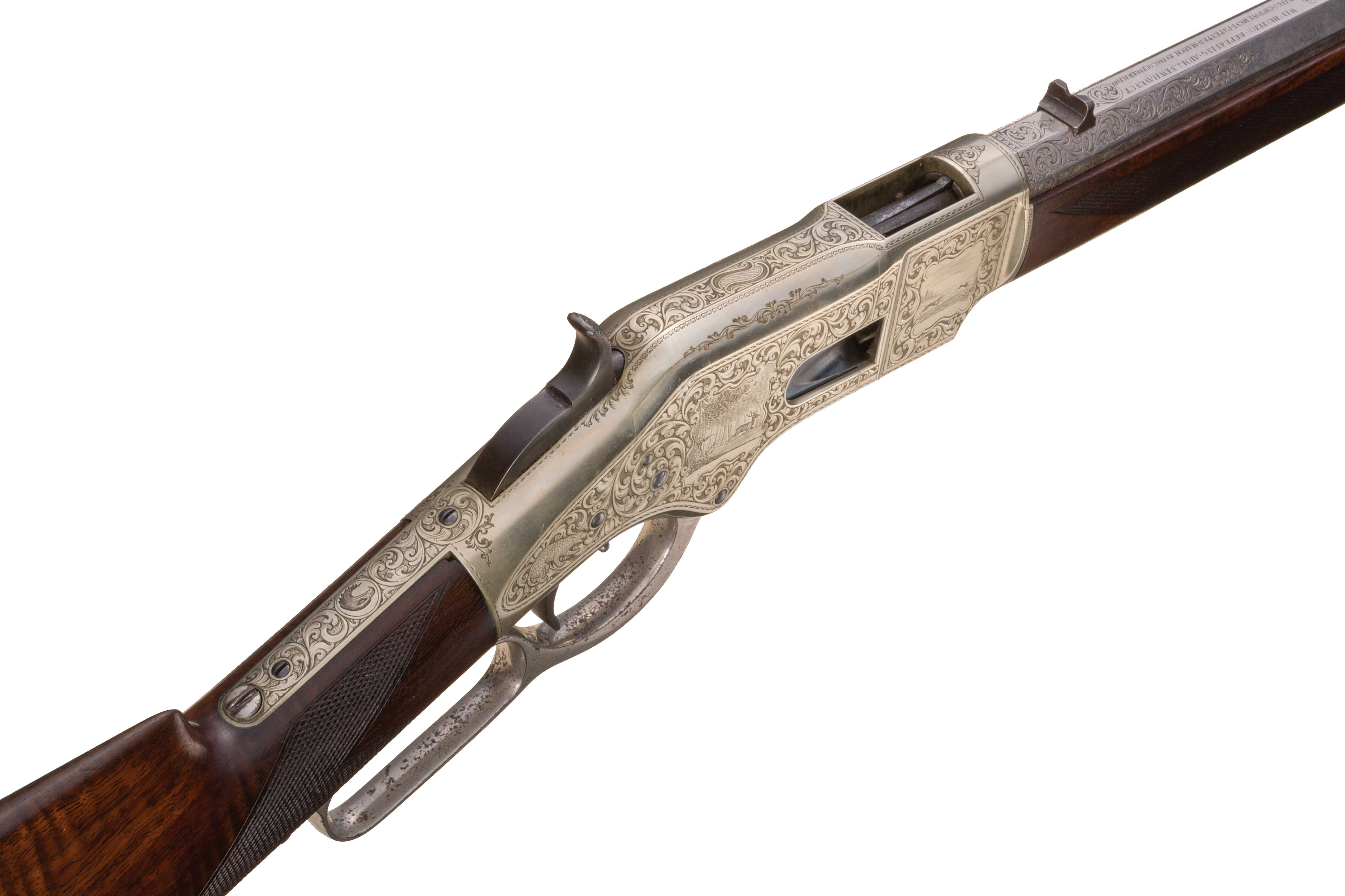 In this upper right side shot of Ira Paine's rifle we can assess just how good the condition of this rifle is.