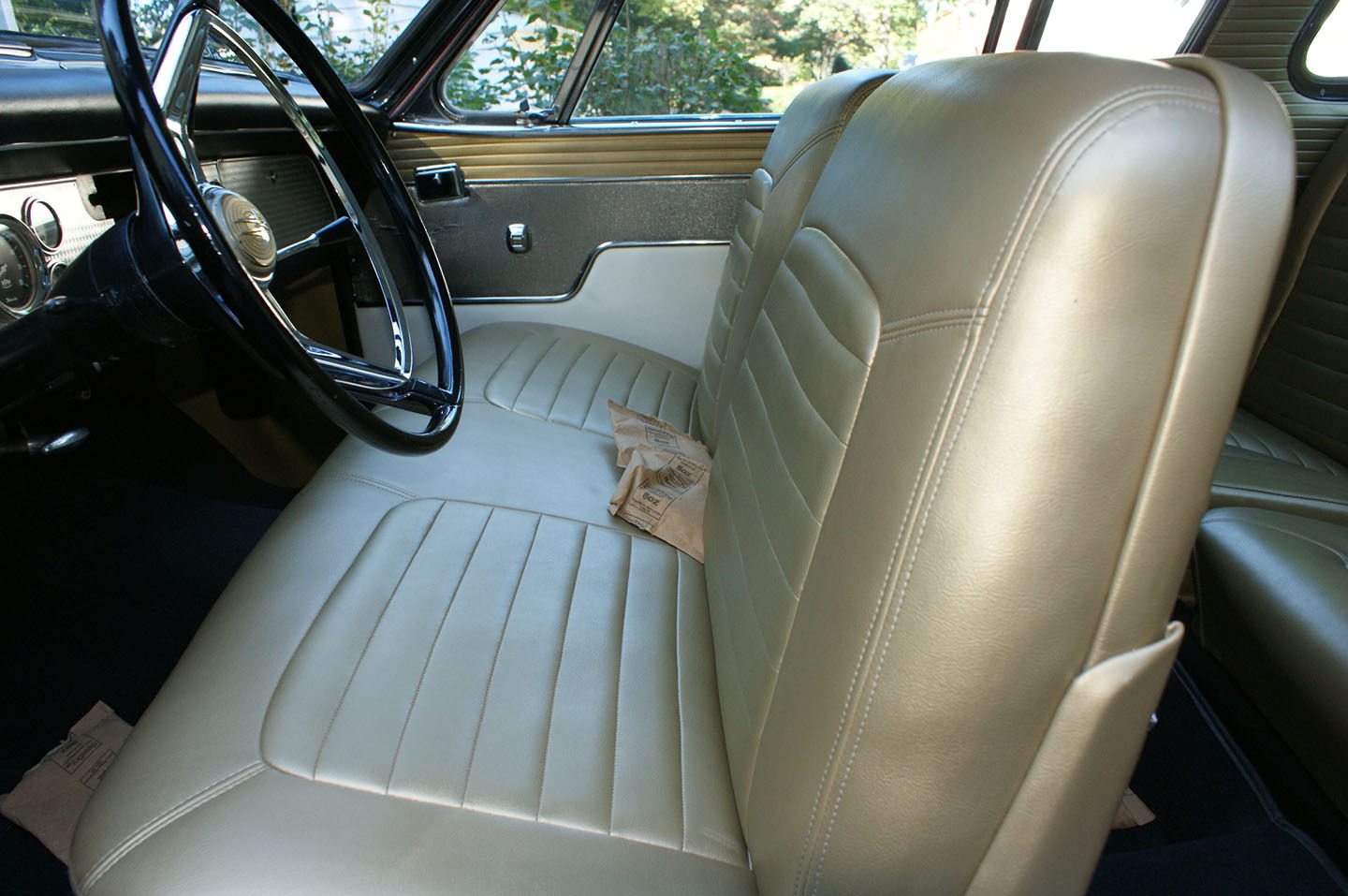 Interior of this 1957 Golden Hawk appears to be in nice original condition.