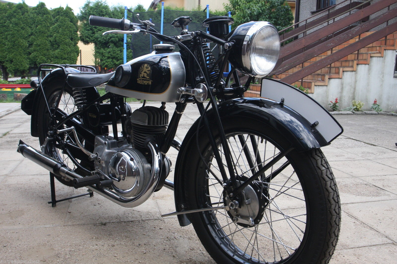 This 1936 vintage German made Triumph B200 is for sale on eBay.