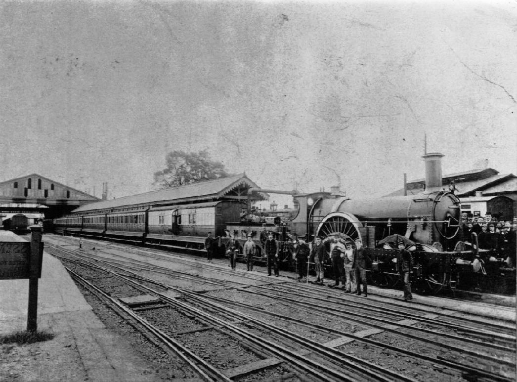 "The Great Western Railway Rover Class ""Dragon"" at Taunton, Somerset. (Picture courtesy (en.academic.ru)."