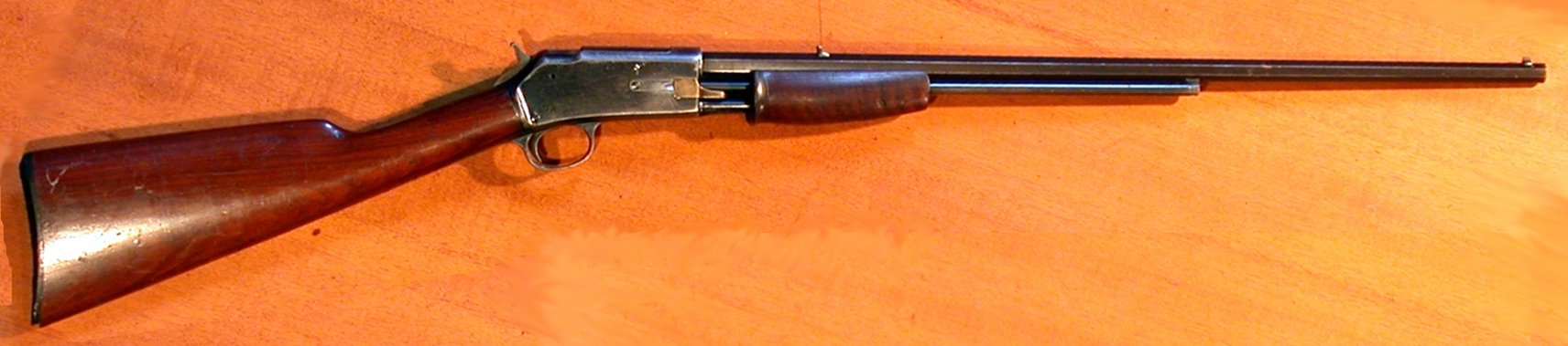 Small frame Colt Lightning .22 rimfire gallery rifle. (Picture courtesy Wikipedia).
