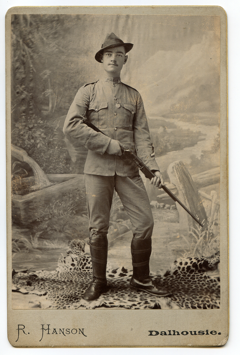 The Colt Lightning was not confined to the United States but they made their way across the world. This picture of a private of the British Royal Warwickshire regiment has him posing with a .22 rimfire Colt Lightning standing on a leopard skin which he undoubtedly did not shoot with it. (Picture courtesy soldiersofthequeen.com).