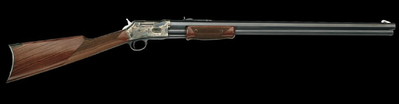 "Pedersoli replica of the Colt Lightning. This version is the Premium with 24"" octagonal barrel. (Picture courtesy Pedersoli)."