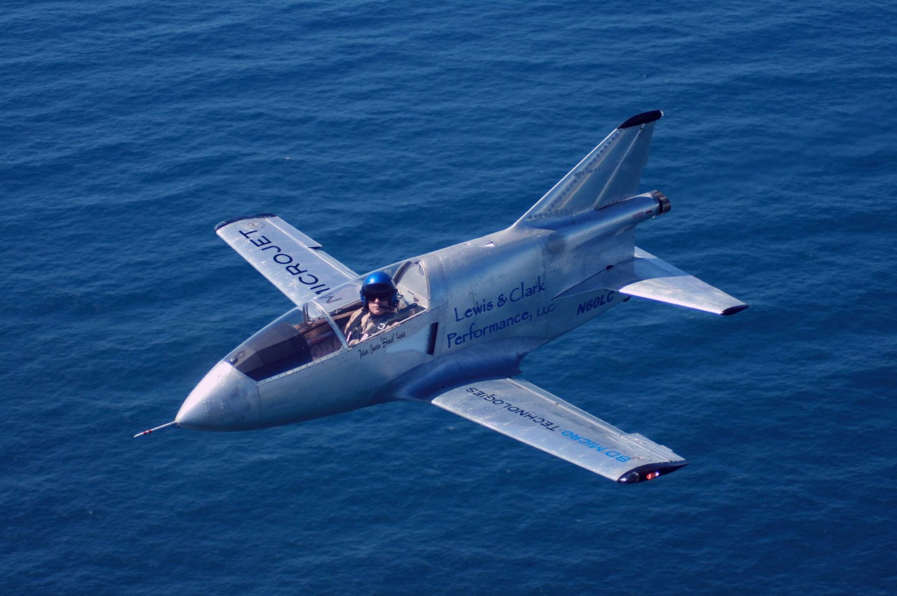 The FLS Microjet is the most modern iteration of the original Bede BD-5 and has been developed and de-bugged. (Picture courtesy eaa40.org).