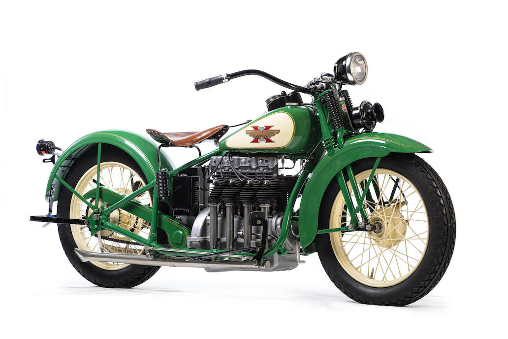 1929 Henderson Excelsior motorcycle known as the Streamline KJ Four.