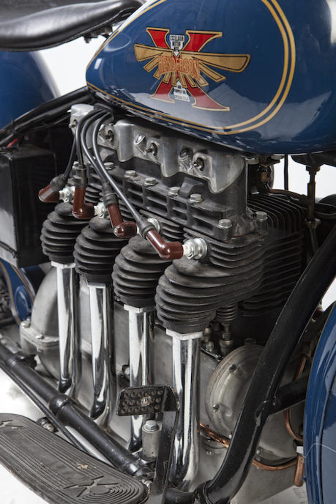Arthur O. Lemon's re-design of the Henderson four resulted in a more powerful and more reliable engine, better suited to police work.