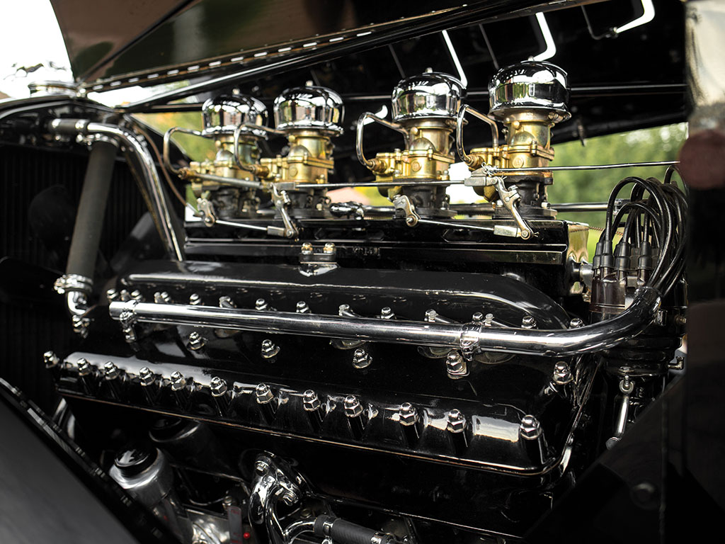 To sell a luxury car in the 1930's the engine under the hood needed to be impressive. Lincoln's 7.3 liter V12 certainly manages to impress.