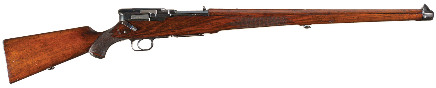 As sporting rifles tend to be kept clean and well lubricated the Mauser 1913 patent auto-loading rifle might be an excellent rifle for driven wild boar.