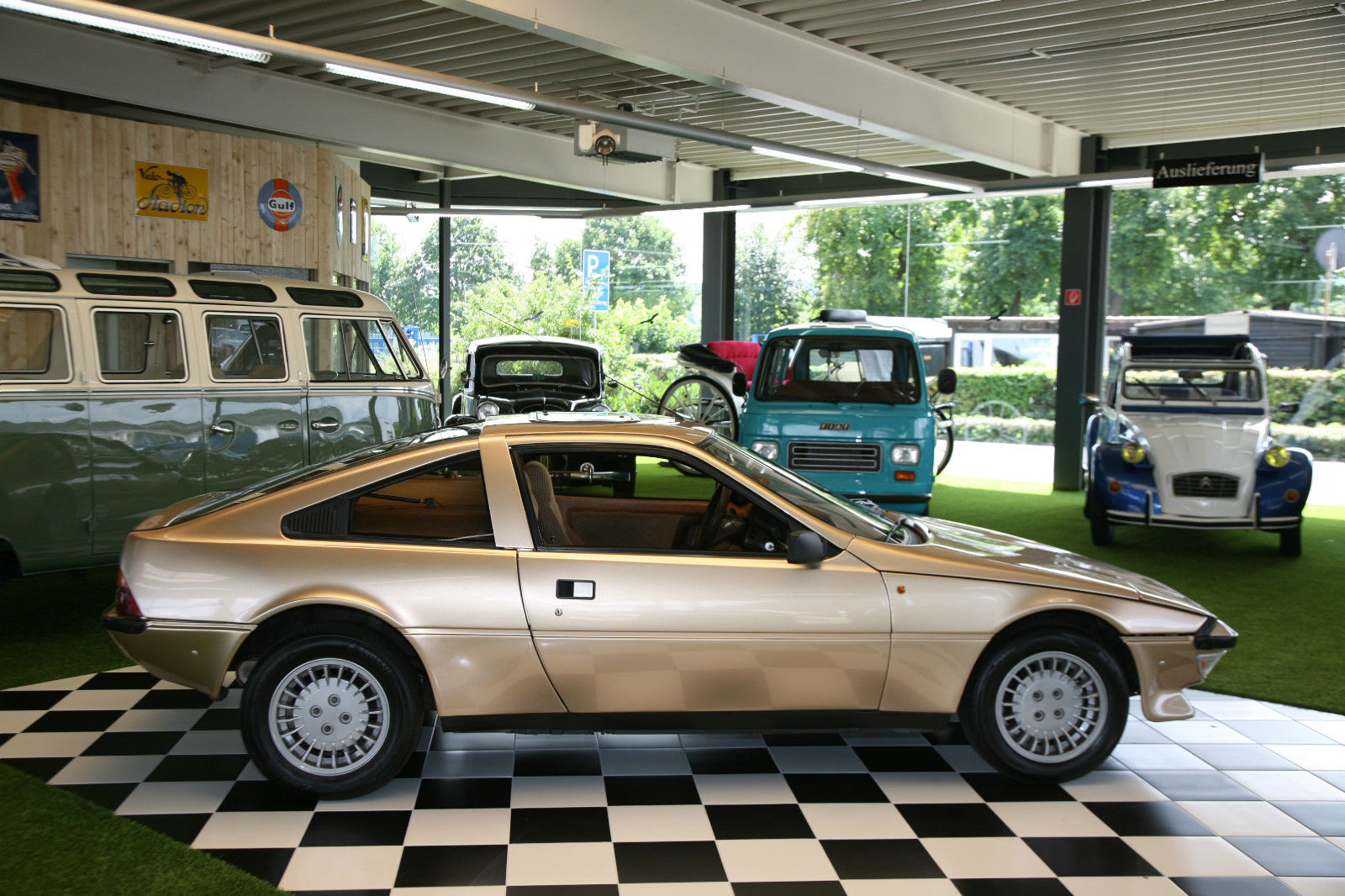 This Talbot-Matra Murena is an exotic little car seen here in the company of some other exotic cars.